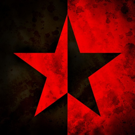 anarchist: Grungy illustration (raster) of the anarchy star Stock Photo