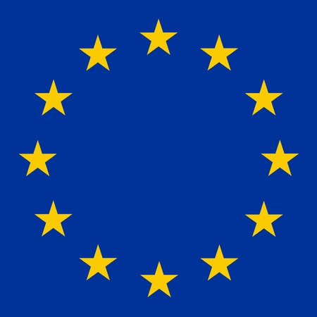 unification: Raster illustration of European Union sign close up