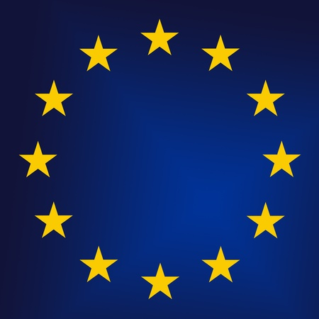 EU - European Union sign close up. Raster graphics photo