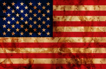 Grunge textured illustration of USA flag illustration