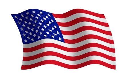 Raster illustration of the USA flag  illustration