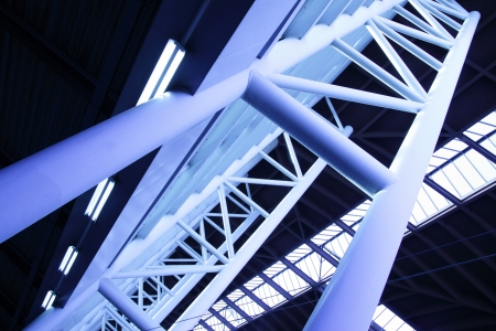 solidity: Abstract architectural construction toned in blue color Editorial