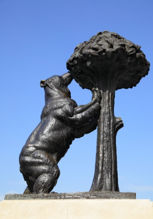 strawberry tree: Statue of Bear and strawberry tree  Symbol of Madrid