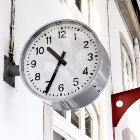 Clock at railway station close-up Stock Photo - 13729073