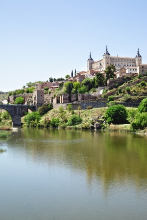 tagus: Toledo and Tagus river, Spain Editorial