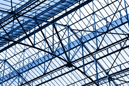 Glass roof of industrial building