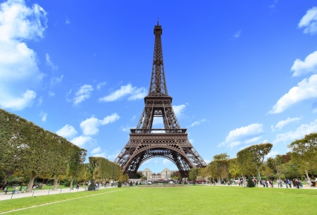 The Eiffel Tower in Paris, France Stock Photo