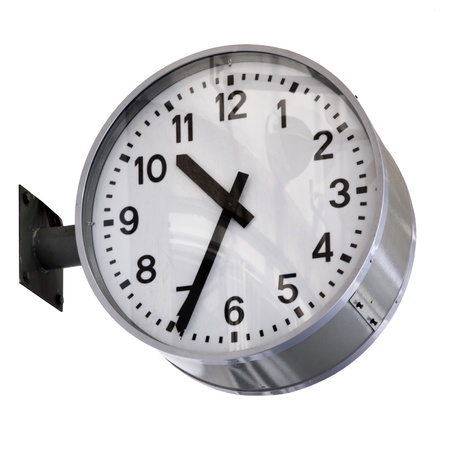 Clock isolatewd over white background photo