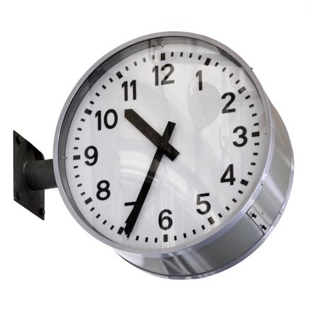 Clock isolatewd over white background photo