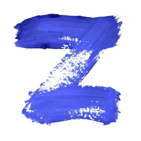 educaton: Z - Blue handwritten letters over white background Stock Photo
