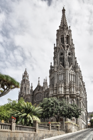 canaria: Cathedral in Arucas town, Gran Canaria
