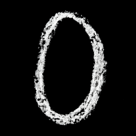 arithmetic: Zero - Chalk numbers over black background