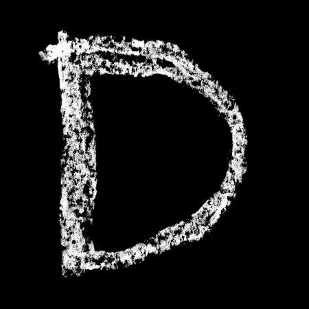 educaton: D - Chalk alphabet over black background
