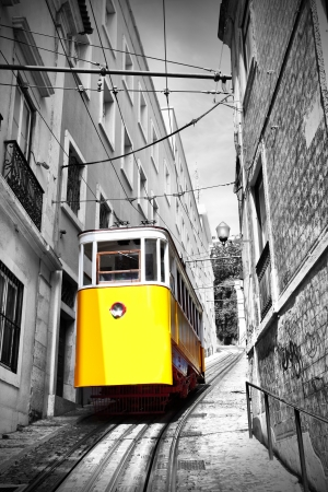 Funicular (Elevador do Lavra) in Lisbon, Portugal photo