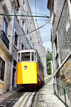elevador: Funicular (Elevador do Lavra) in Lisbon, Portugal