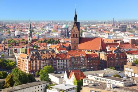 Panoramablick auf Stadt Hannover, Deutschland