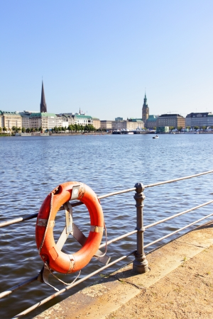 broach: Quay of Alster in Hamburg, Germany Stock Photo