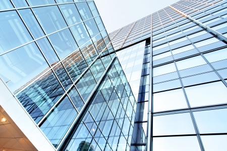 property management: Office building close up Stock Photo