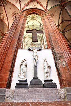 Interior of Church of St. Mary in Lubeck, Germany