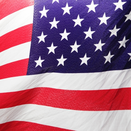 Part of USA Flag close-up photo