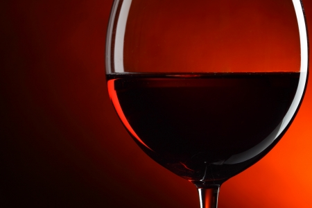 wine tasting: Glass of red wine close-up