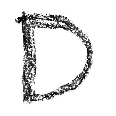 educaton: D - Hand-written charcoal alphabet