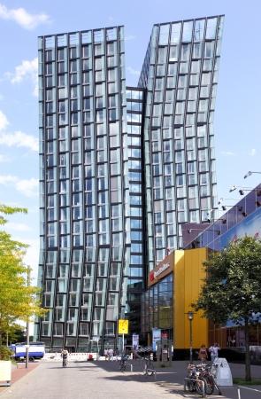 reeperbahn: HAMBURG - AUGUST 19: New contemporary office building on Reeperbahn street August 19, 2012 in Hamburg