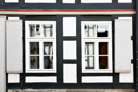 windows frame: Windows with shutters, Germany Stock Photo