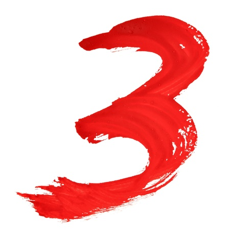 Tree - Red handwritten numerals over white background Stock Photo - 17722294