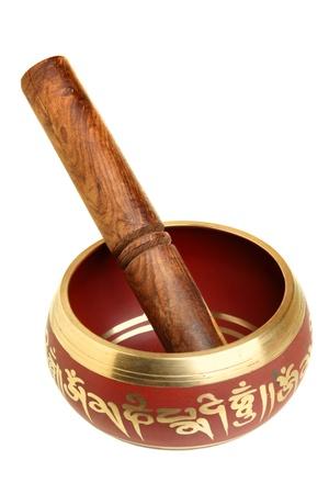 b9663e662997e Mujer Que Toca Una Cuencos También Conocido Como Cuencos Tibetanos ...