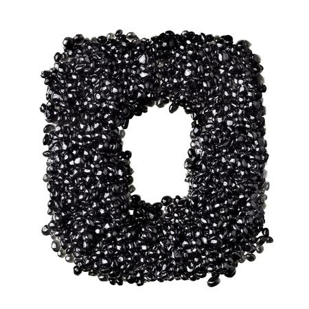 fount: O - Alphabet made from black caviar