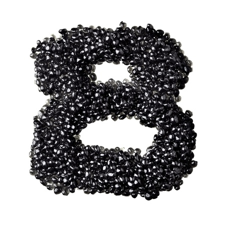 fount: Eight - Numbers made from black caviar