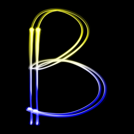 educaton: B - Created by light colorful letters