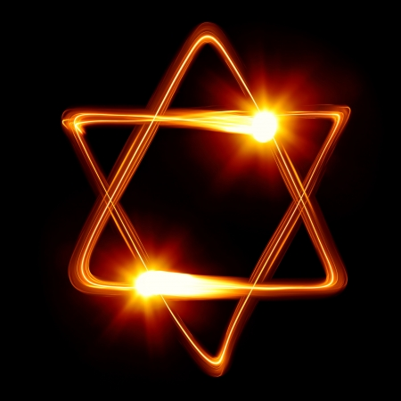 Star of David created by light photo