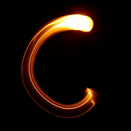 C - Pictured by light letters