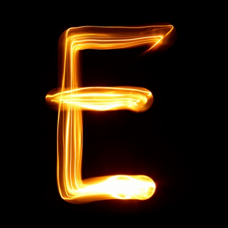 E - Pictured by light letters