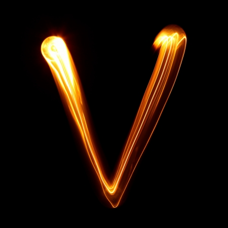 V - Pictured by light letters photo
