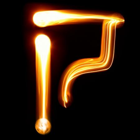 yiddish: Qof - Letters of hebrew alphabet Stock Photo