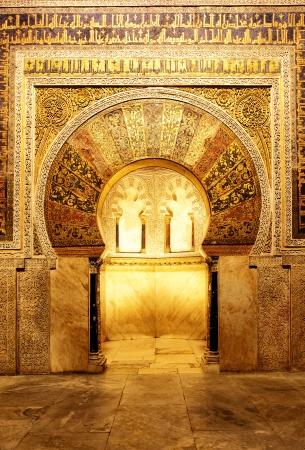 코르도바 (메스) 인테리어, 스페인의 위대한 모스크 스톡 콘텐츠 - 18645713