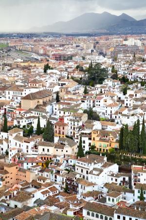 granada: Panoramic view of Granada, Spain Stock Photo