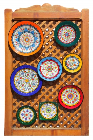 moresque: Typical colorful ceramic andalusian plates Stock Photo