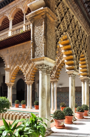 Courtyard in Alcazar, Seville