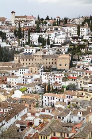 granada: View of Granada from Alhambra, Spain