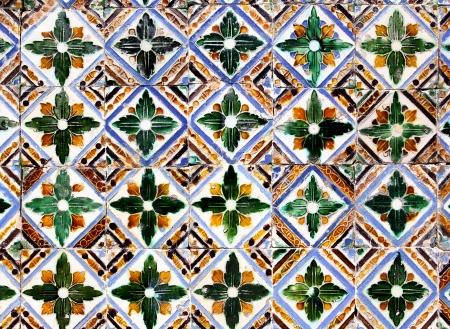 moresque: Moorish ceramic tiles in the Real Alcazar, Seville