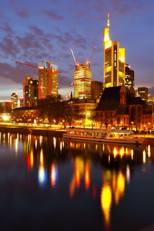 Frankfurt am Mine at night, Germany photo