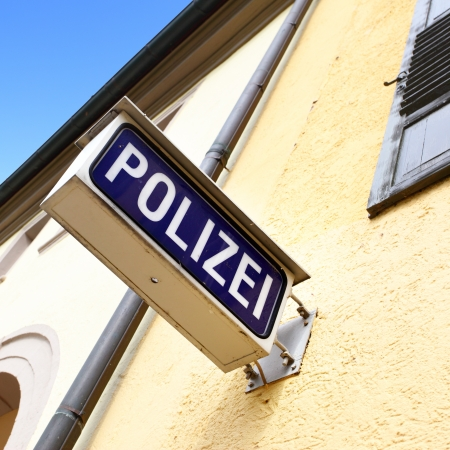 Police stantion sign, Germany