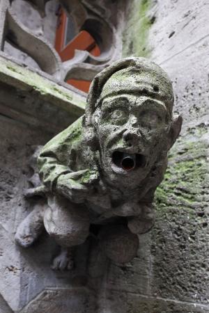 gargoyle: Gothic gargoyle on town hall in Munich