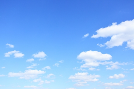 Sky with clouds, may be used as background Standard-Bild
