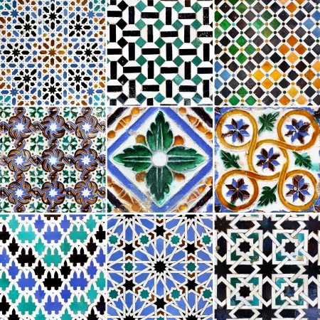 Traditional tile patterns of Andalusia (14th - 15th century) photo