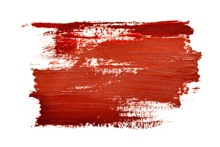 daub: Red brush strokes isolated on the white background